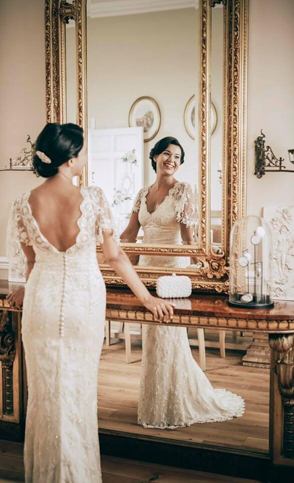 Geralyn Gold Bridal Hair Comb from bridal photoshoot by Unveiled by Louise